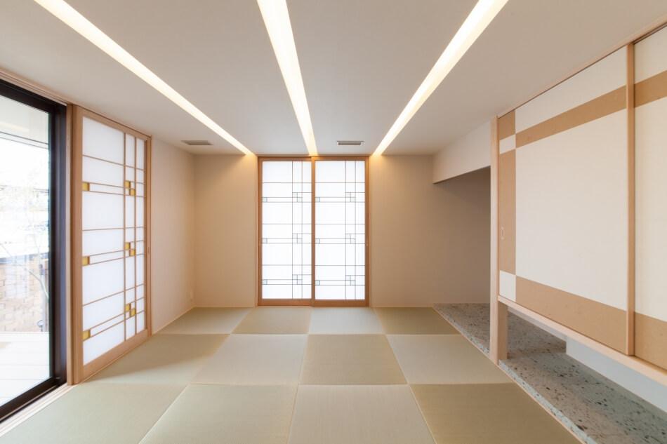 日本の伝統空間「和室」も統合の造形で更なる美しさへ。