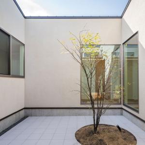 中庭を囲み ぐるり巡る 「葭月な家」