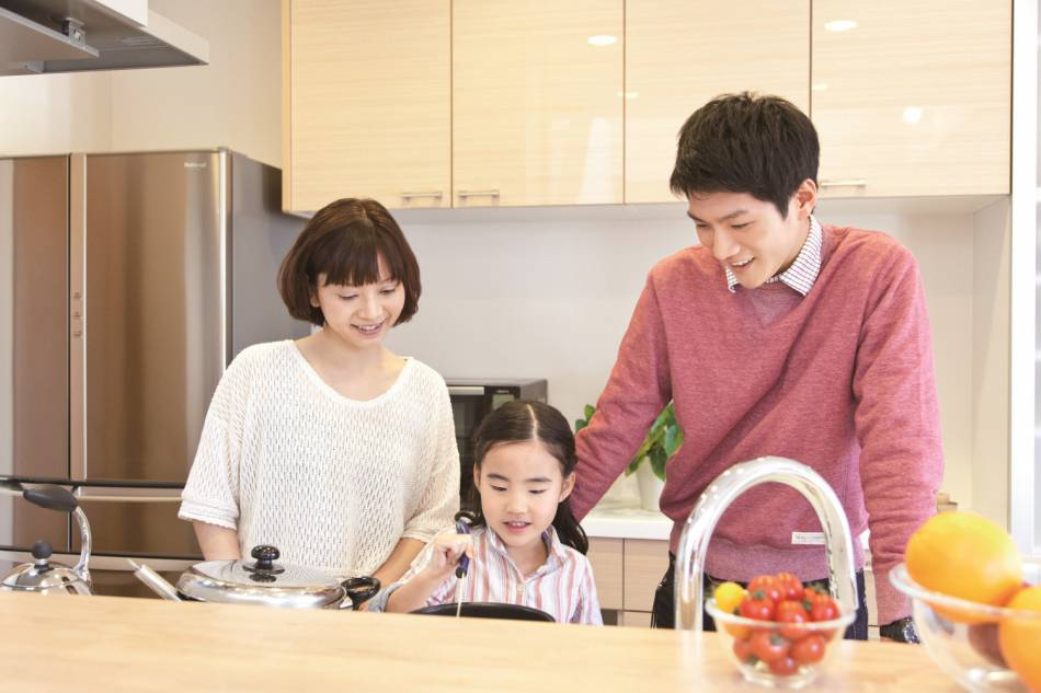 このキッチンなら、家族の絆がもっと深まりそう