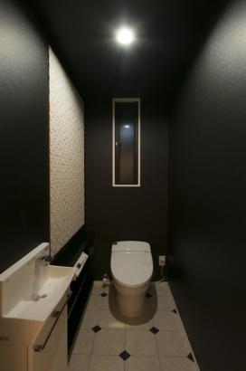 一枚鏡のある洗面所