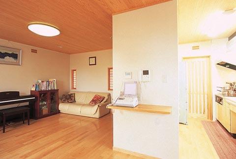 富山木の家リビング_北岡工務店