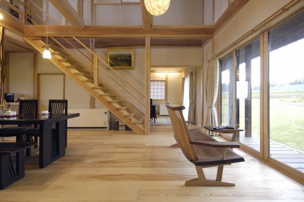 庭 富山木の家 北岡工務店