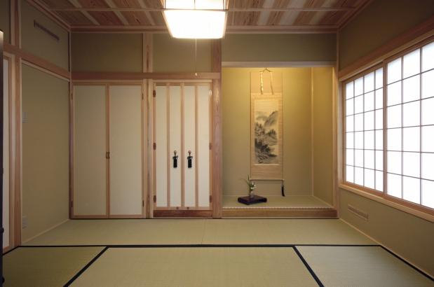和室 富山木の家 北岡工務店