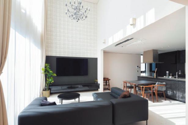 リラックスできて非日常的な 雰囲気も味わえる贅沢な家