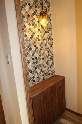 2階トイレ、レトロなデザイン