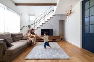 広く見える空間デザインを 取り入れた開放的な家