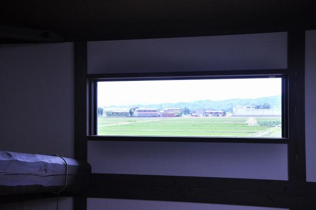 書斎から見える田園風景