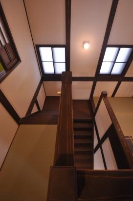 中2階から繋がる畳の廊下。なんだか不思議な感じです。
