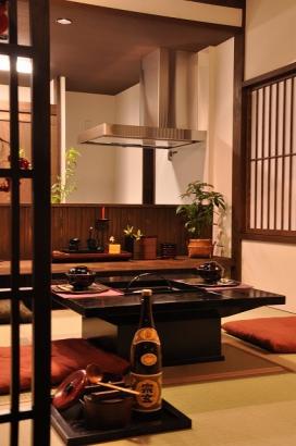 囲炉裏テーブルのあるこあがり食堂