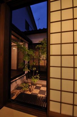 客間から眺める中庭