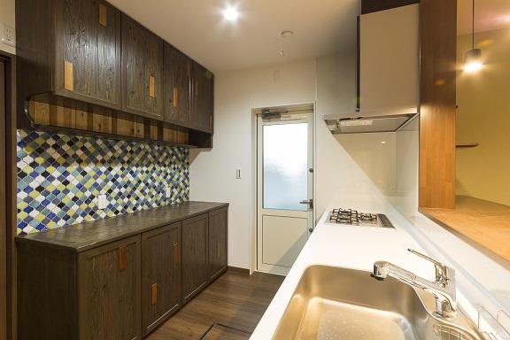造作キッチン棚