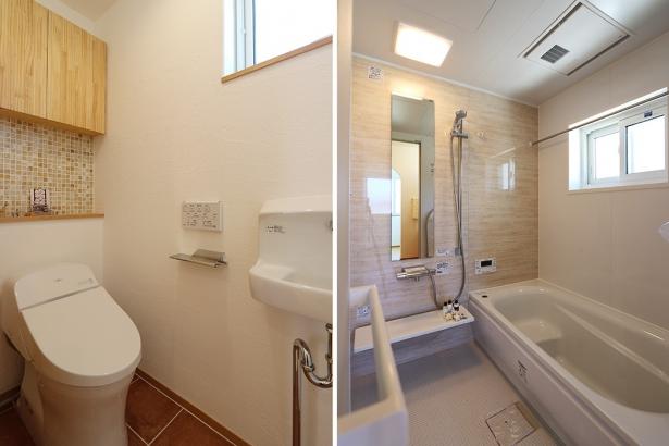 無添加住宅_トイレ+浴室_調湿・消臭効果抜群の漆喰