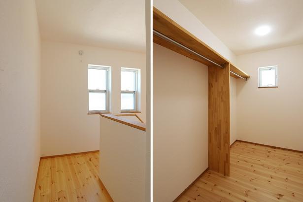 無添加住宅_階段+WIC_ホールから使えるウォークインクローゼット