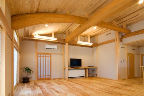 リビング 富山木の家 北岡工務店