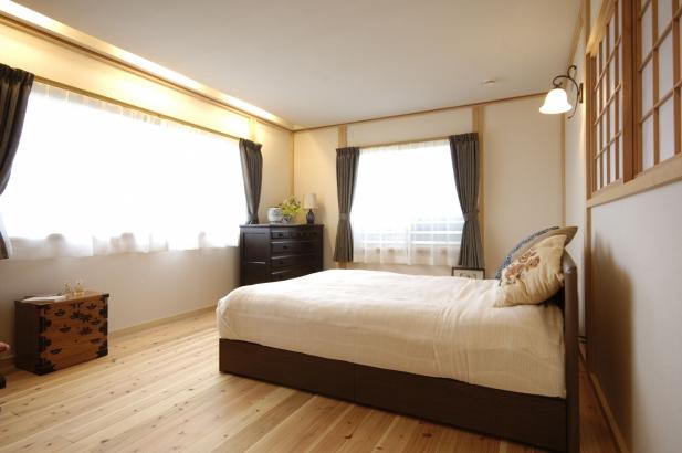 寝室 富山木の家 北岡工務店